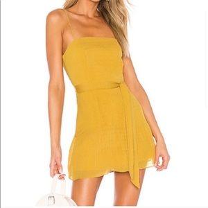 Gold superdown dress from Revolve